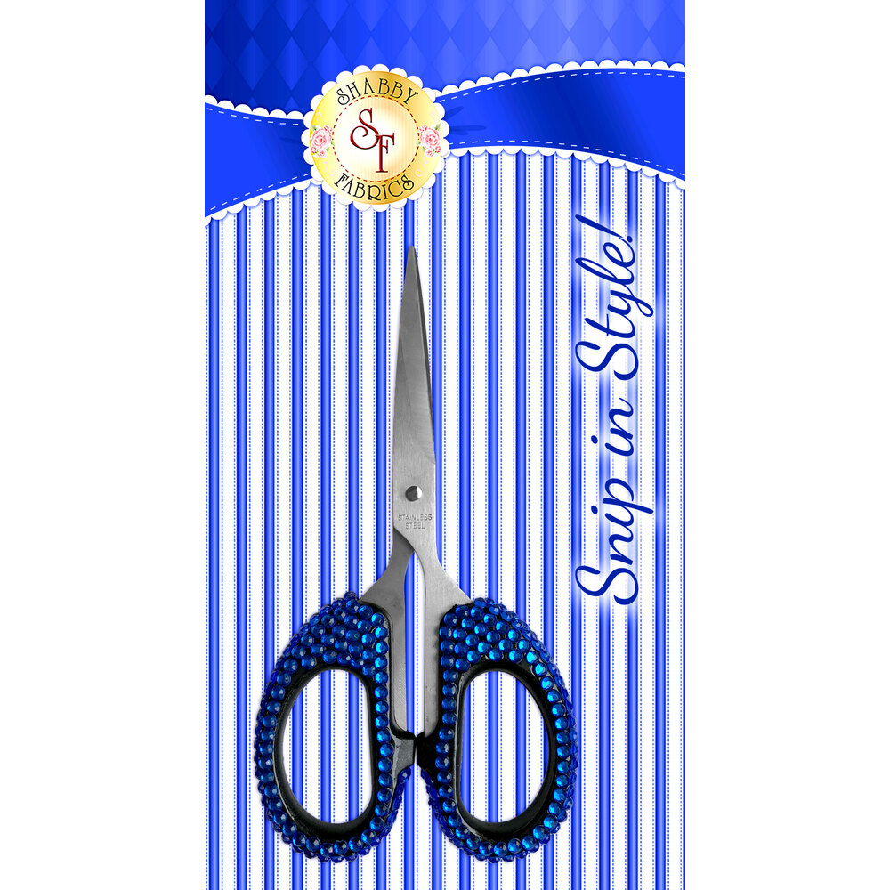 Snip In Style - Royal Blue Scissors