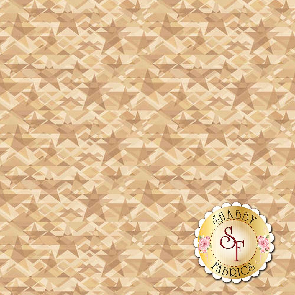 Tonal light and tan stars all over | Shabby Fabrics