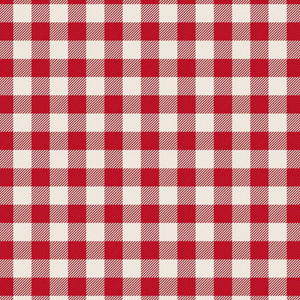 White and red plaid | Shabby Fabrics