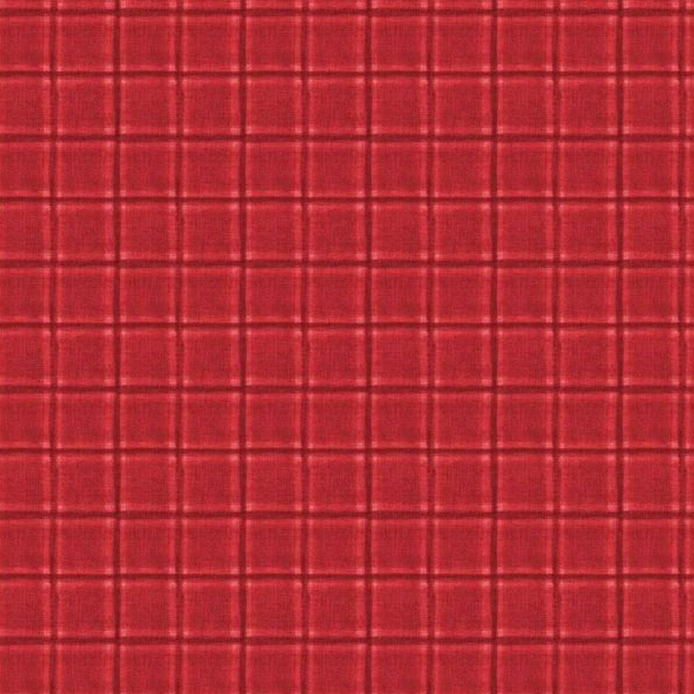 Tonal red plaid | Shabby Fabrics