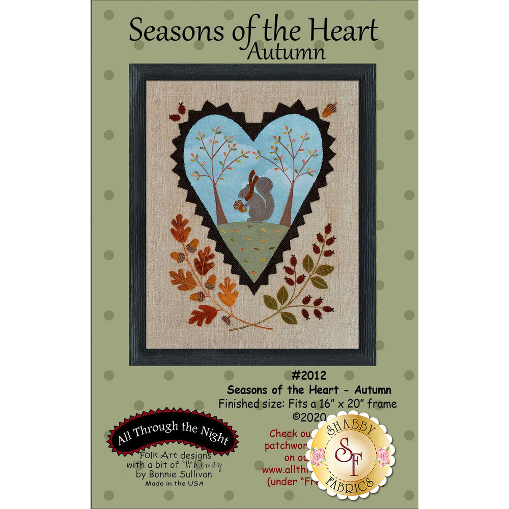 Seasons Of The Heart - Autumn featuring an adorable squirrel with a scarf | Shabby Fabrics