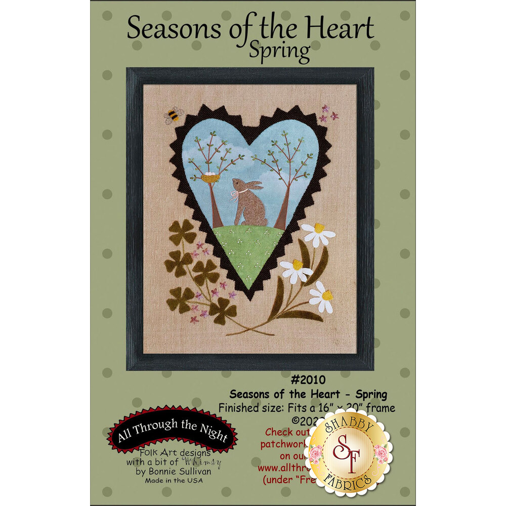 Seasons Of The Heart - Spring featuring an adorable bunny looking at eggs | Shabby Fabrics