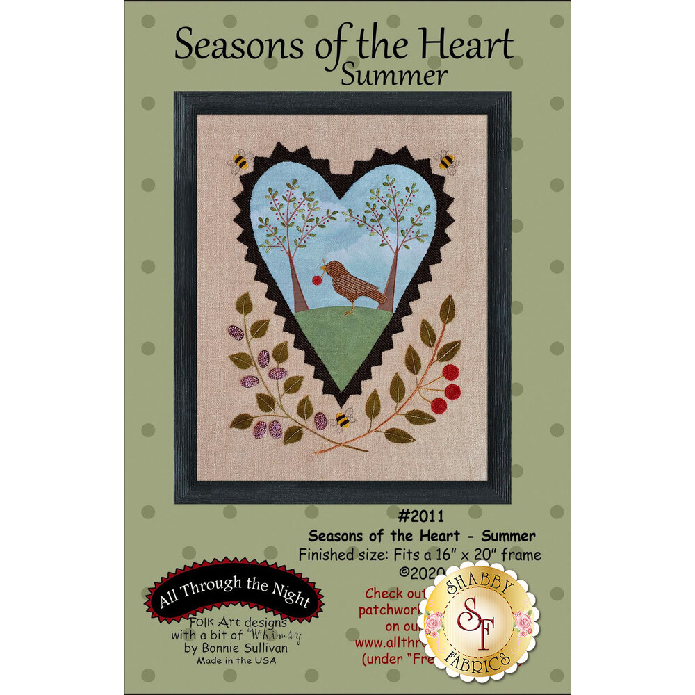 Seasons Of The Heart - Summer featuring an adorable bunny looking at eggs | Shabby Fabrics