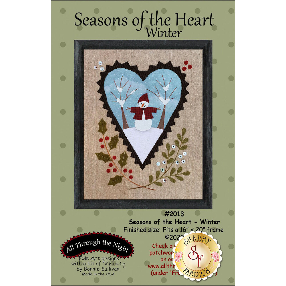 Seasons Of The Heart - Winter featuring an adorable bunny looking at eggs   Shabby Fabrics