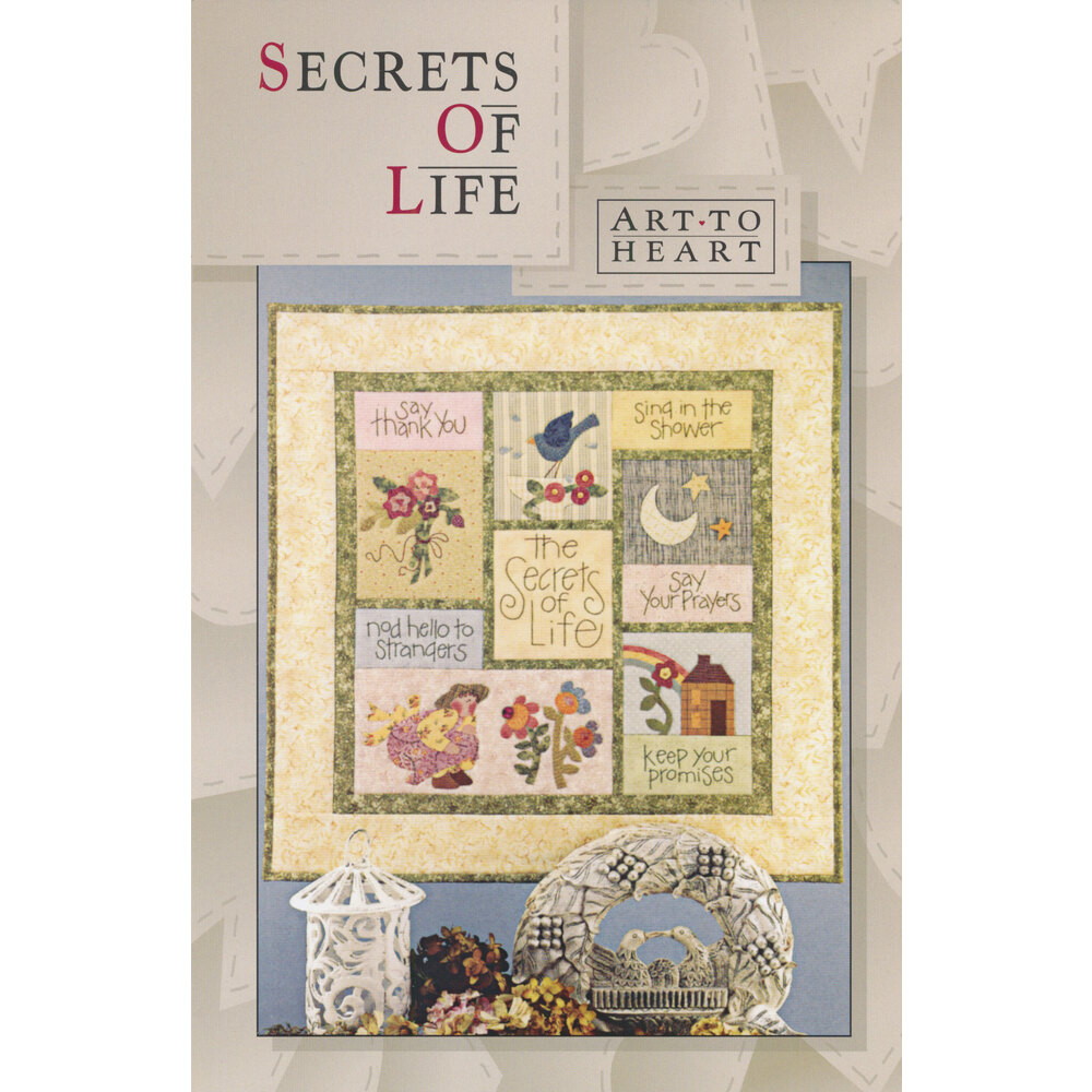 The front of the Secrets of Life pattern by Art to Heart