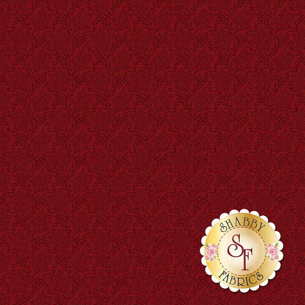 Tonal red floral | Shabby Fabrics