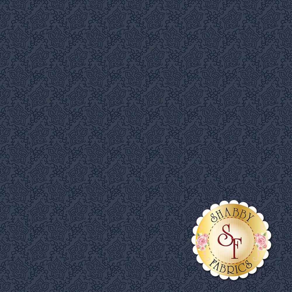Tonal navy floral | Shabby Fabrics
