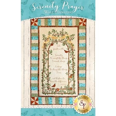 Serenity Prayer Panel Quilt - Beige Kit