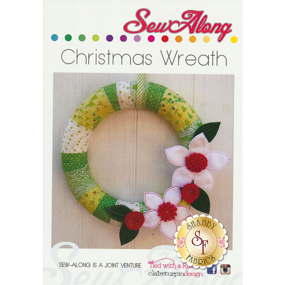 Sew Along Christmas Wreath Pattern available at Shabby Fabrics