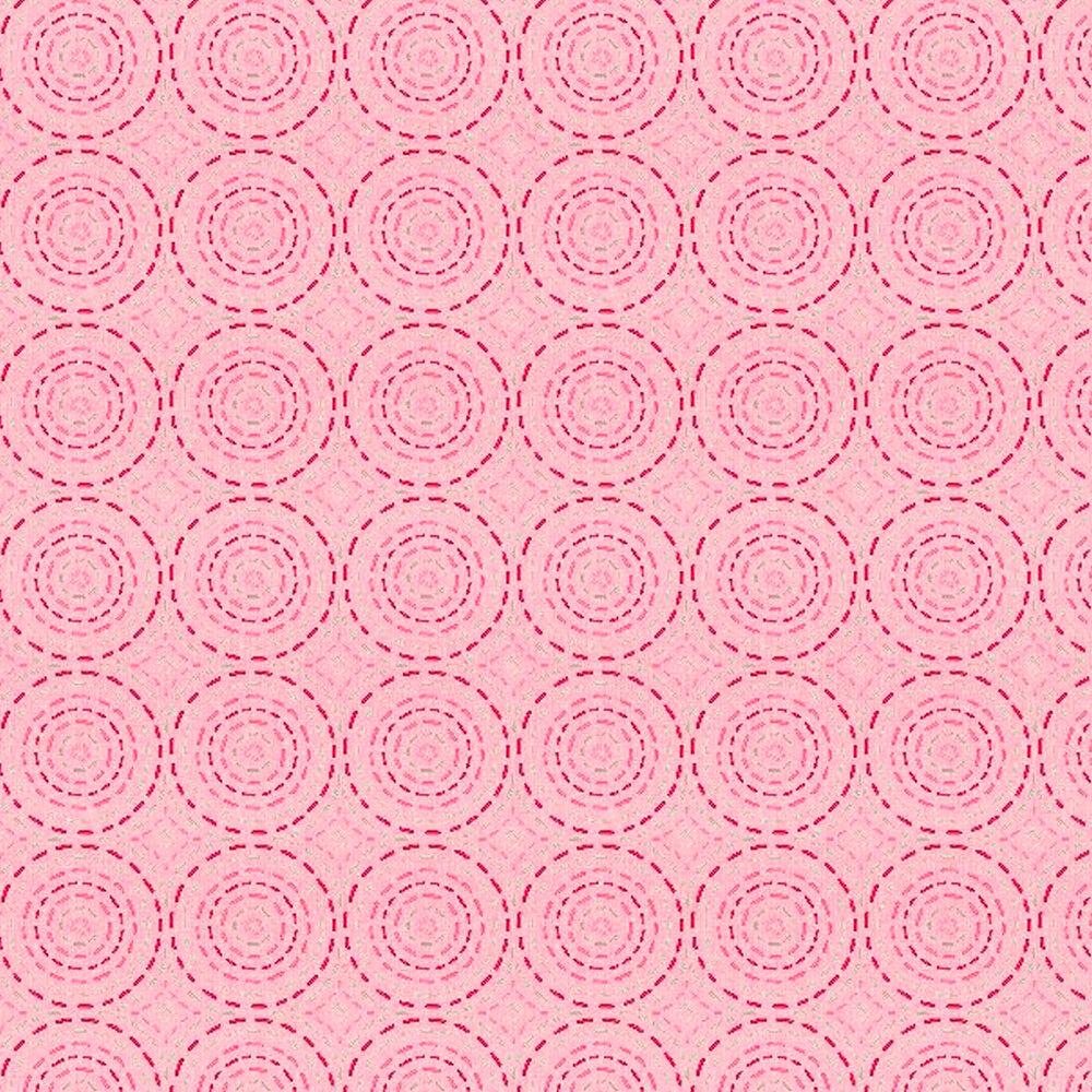 Dashed dark pink circles on a light pink background