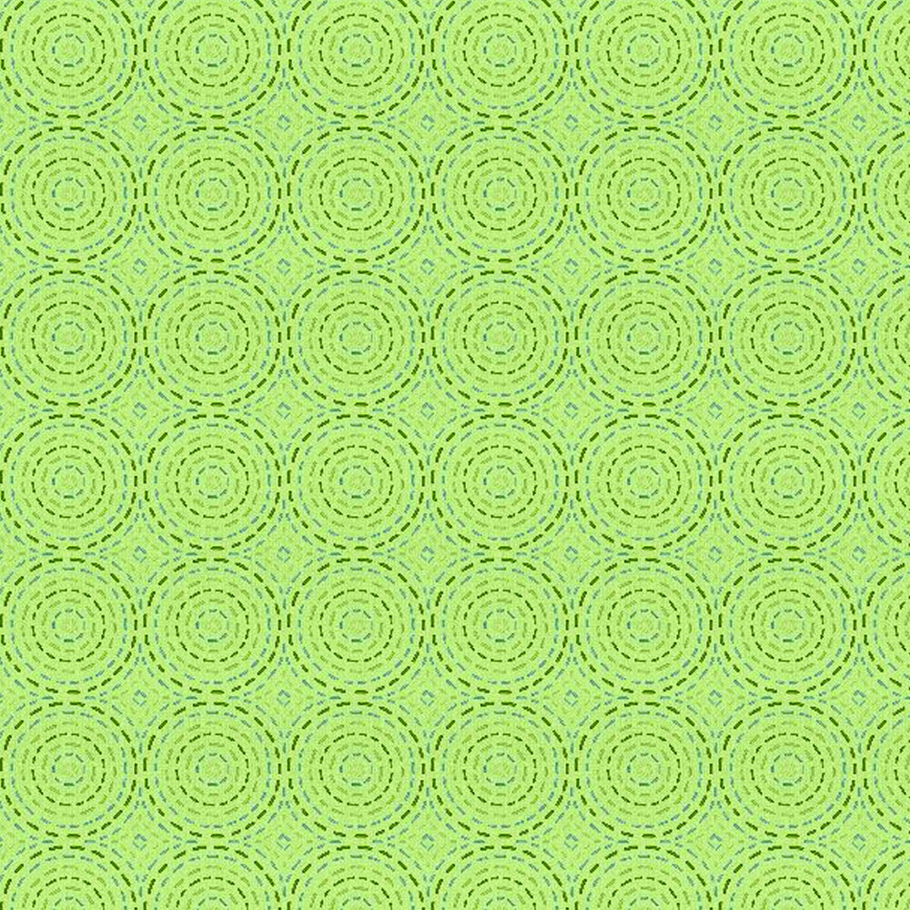 Dashed dark green circles on a light green background
