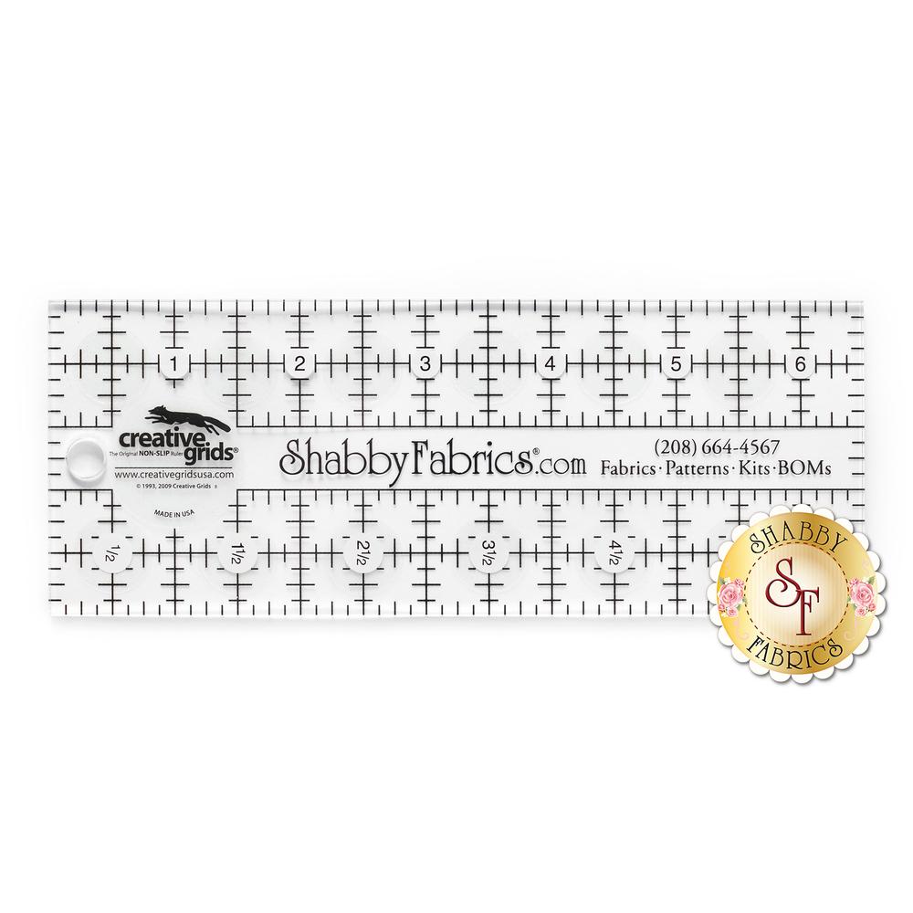 "Shabby Fabrics Rectangle Ruler 2½"" x 6½"" - Creative Grids"