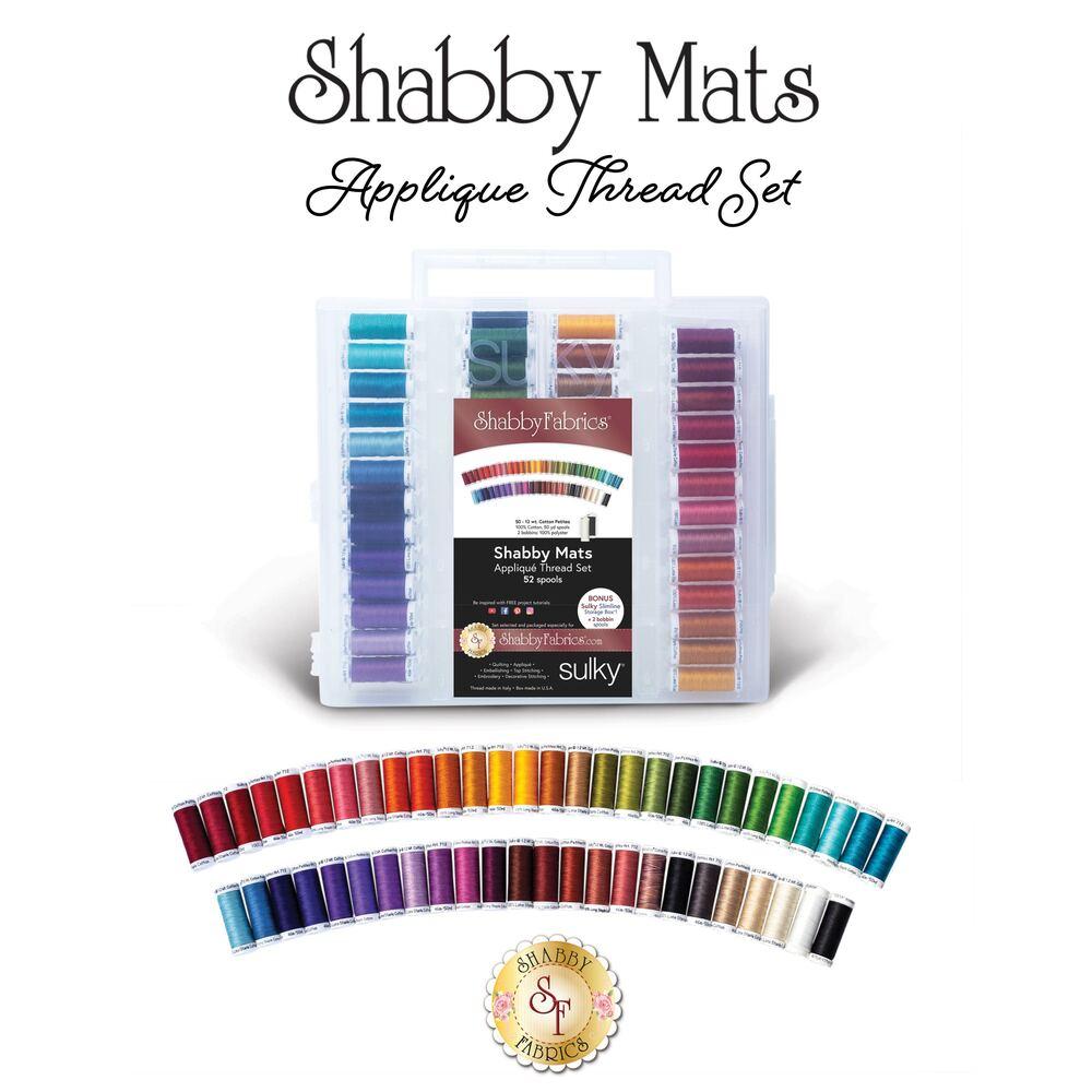 Shabby Mat Club - 52 pc Appliqué Thread Set - RESERVE