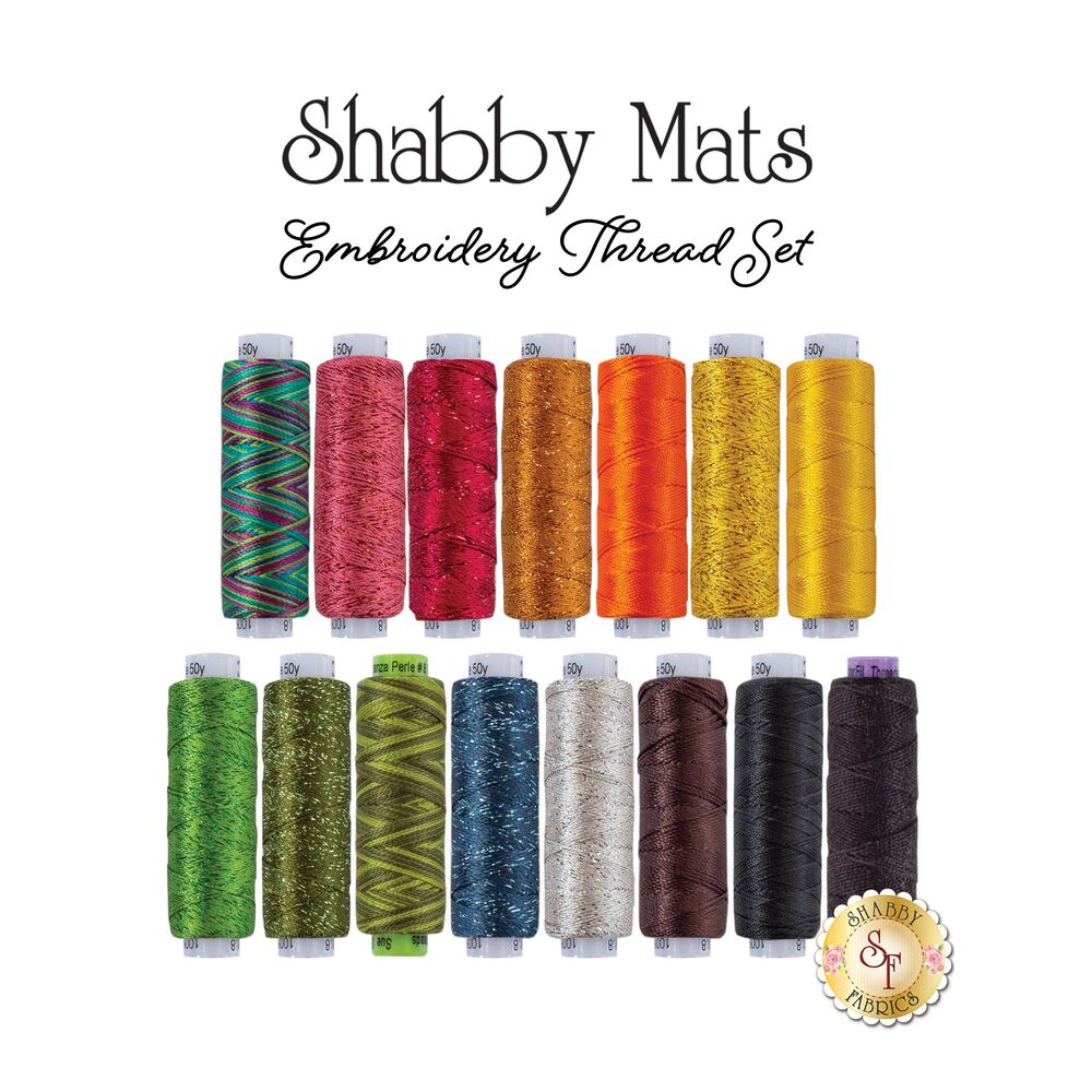 Shabby Mats Club - 15 pc Embroidery Thread Set - RESERVE
