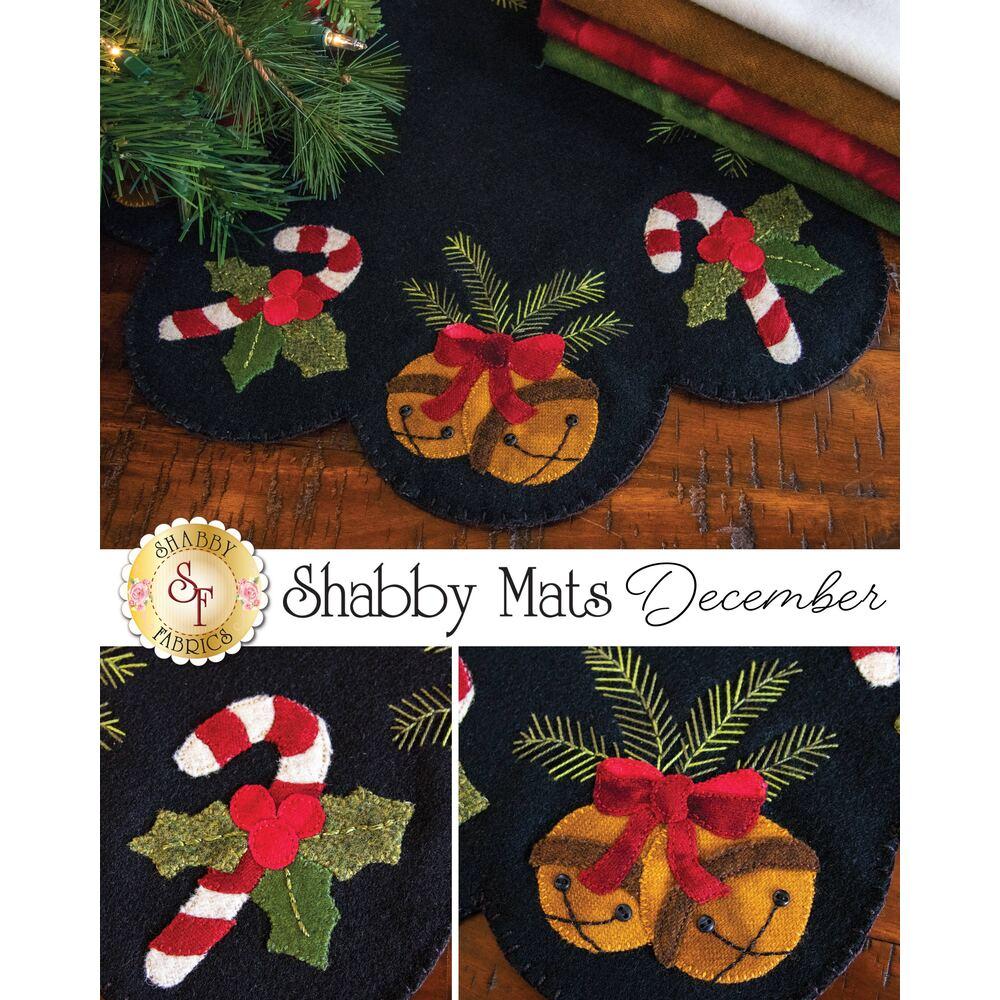 The December Shabby Mat in Wool | Shabby Fabrics