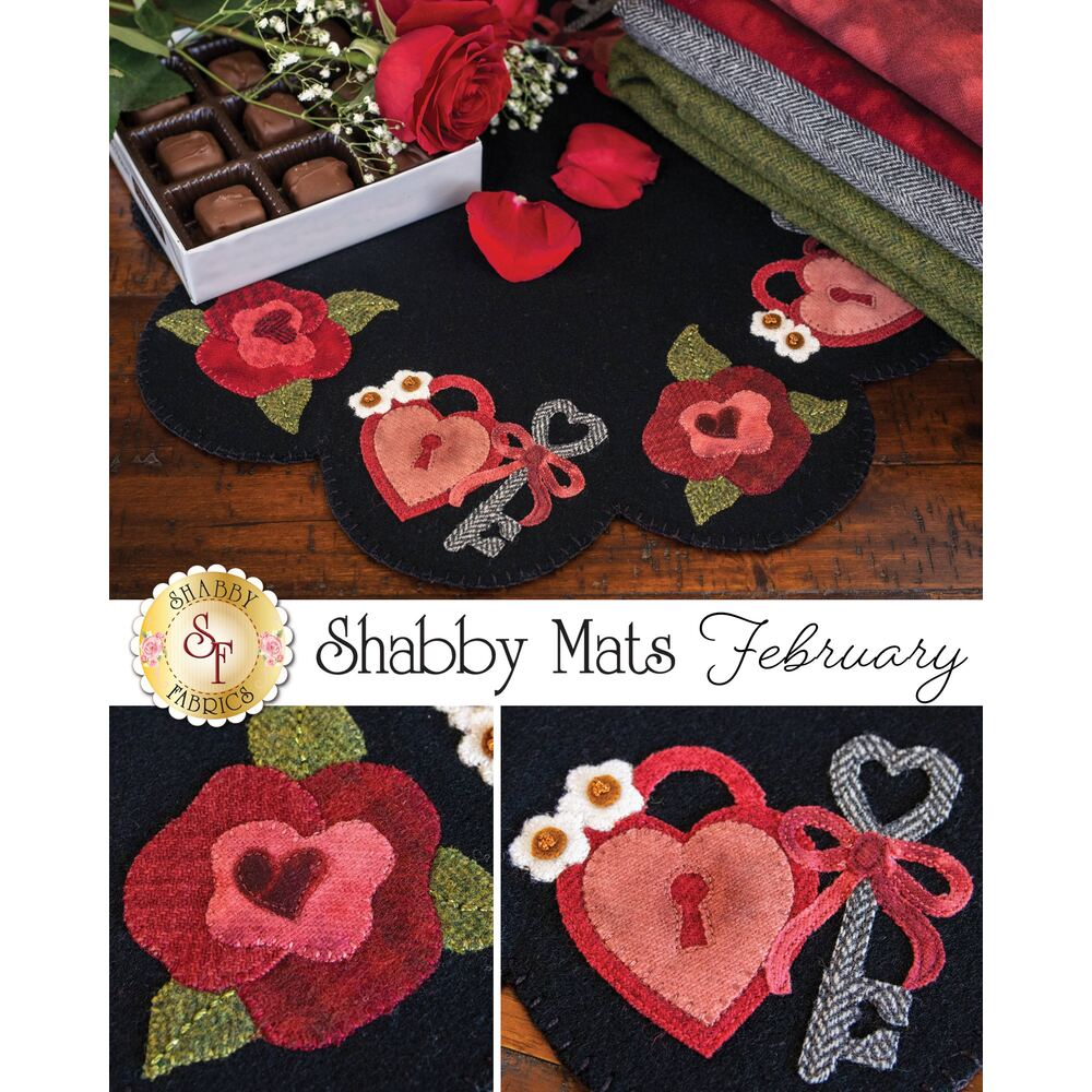 Shabby Mats - February - Wool Kit