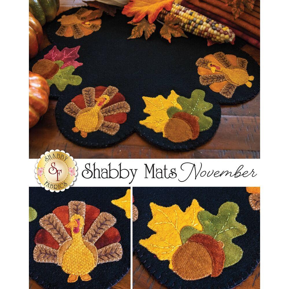 The finished November Wool Shabby Mat | Shabby Fabrics