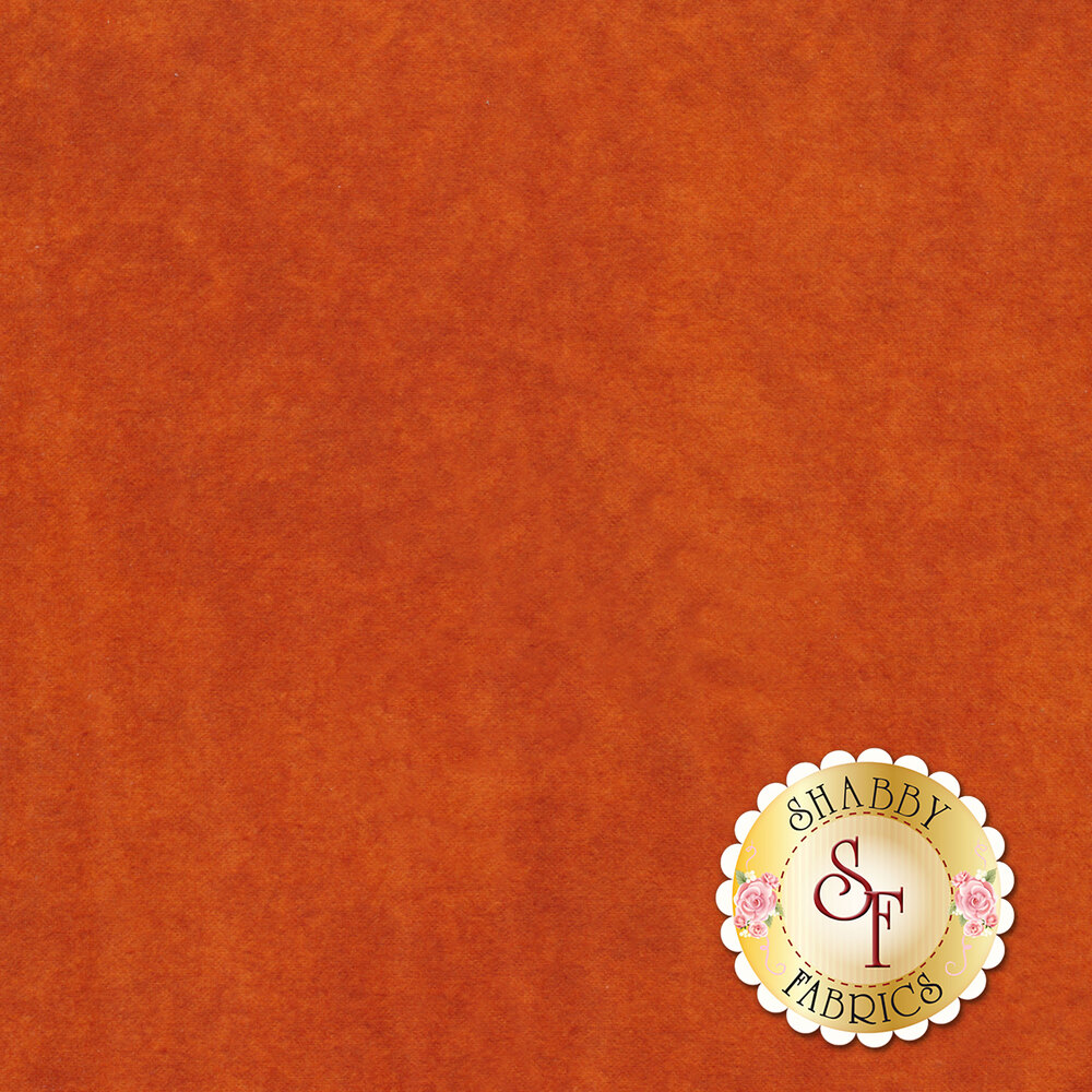 Orange colored mottled flannel | Shabby Fabrics