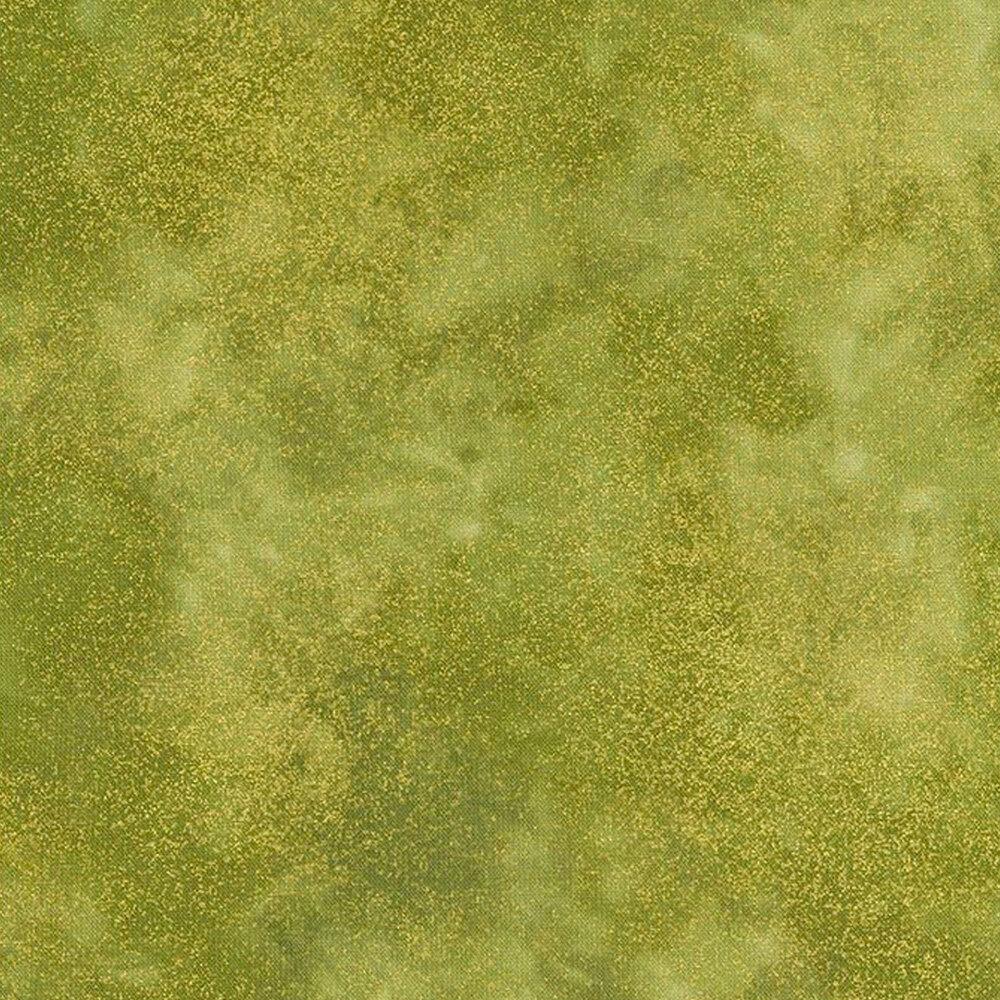 Green mottled fabric with metallic shimmer | Shabby Fabrics