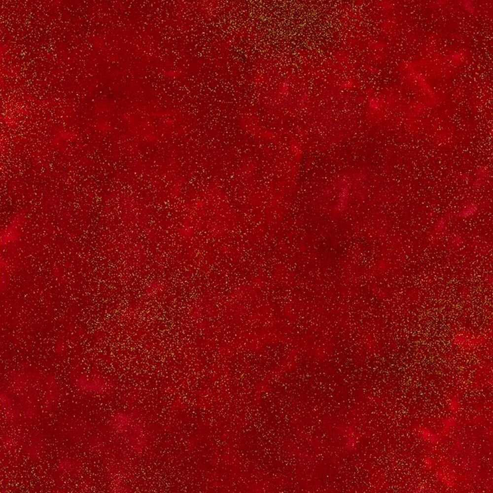 Red mottled fabric with metallic shimmer | Shabby Fabrics