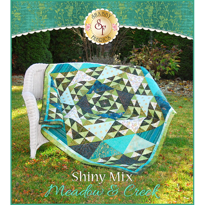 Shiny Mix Quilt Kit - Meadow & Creek