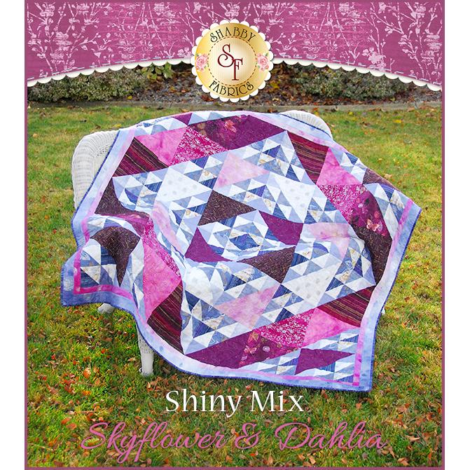 Shiny Mix Quilt Kit - Skyflower & Dahlia