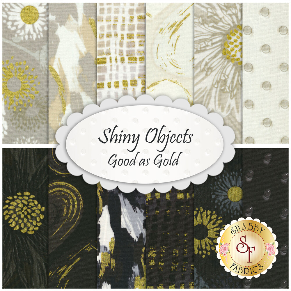 The Shiny Objects Good As Gold FQ Set | Shabby Fabrics