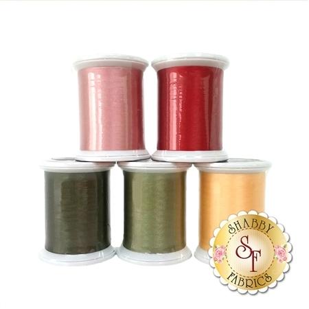 Garden Tea Party - 5 pc Silk Thread Kit - FOR HAND APPLIQUE'