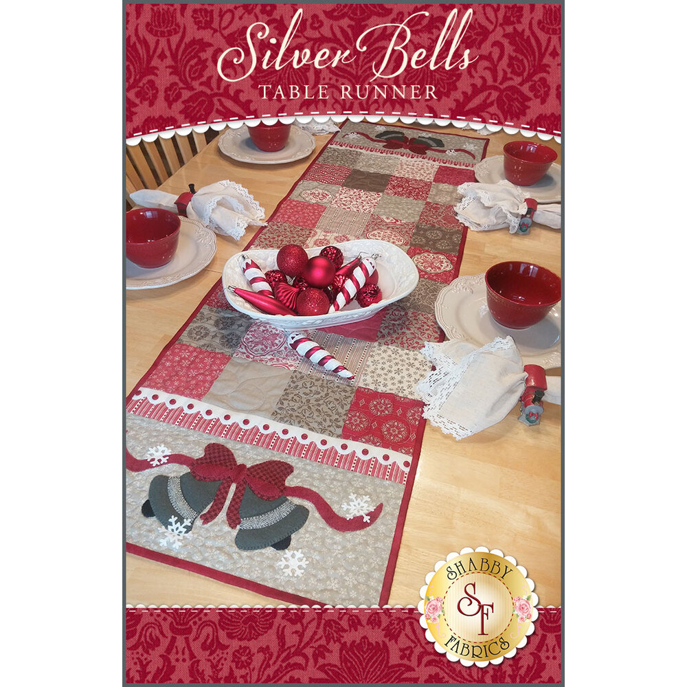Silver Bells Table Runner Kit - INCLUDES WOOL!