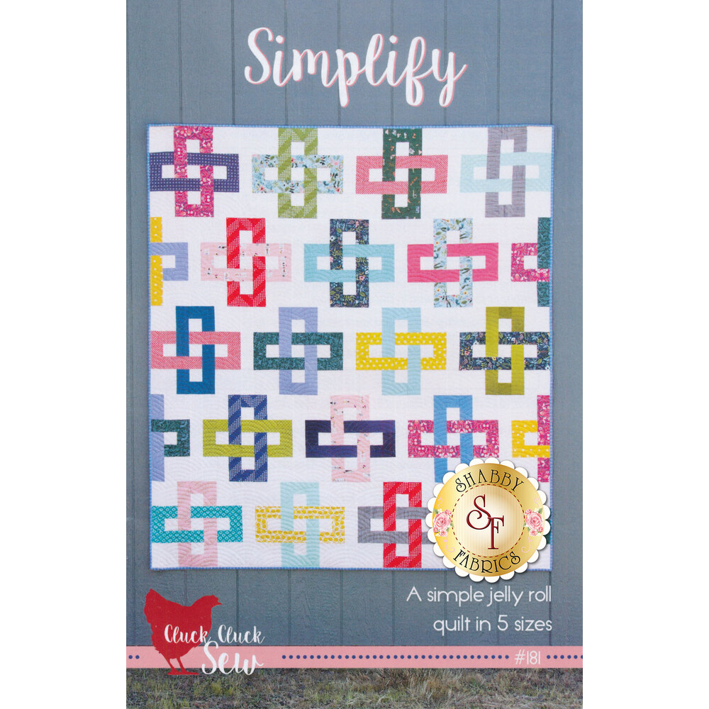 The front of the Simplify Quilt Pattern showing the finished quilt