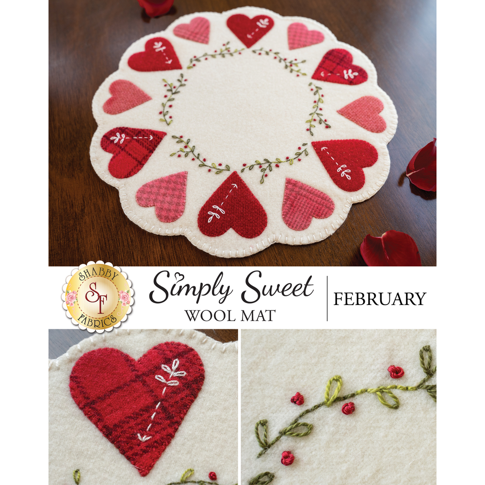 Simply Sweet Mats - February - Wool Kit