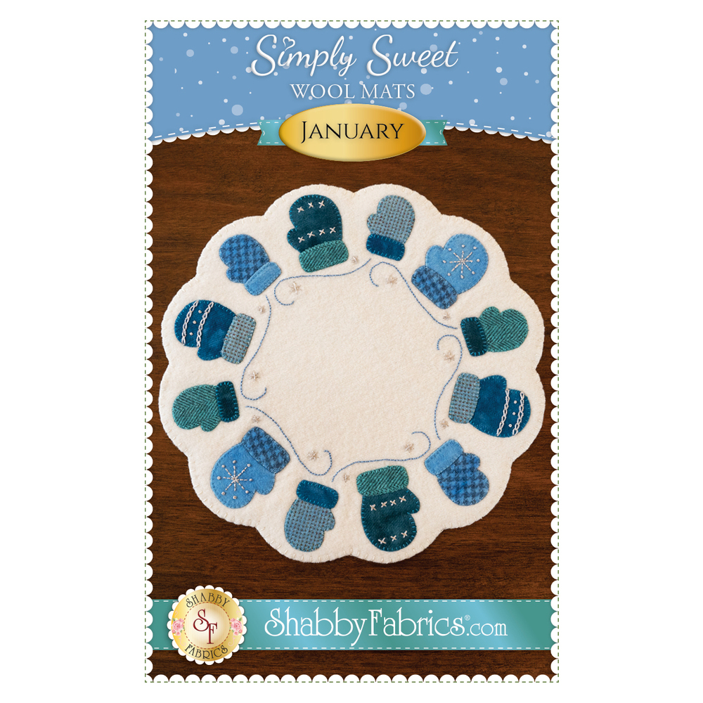 The front of the Simple Sweet Mats pattern for January | Shabby Fabrics