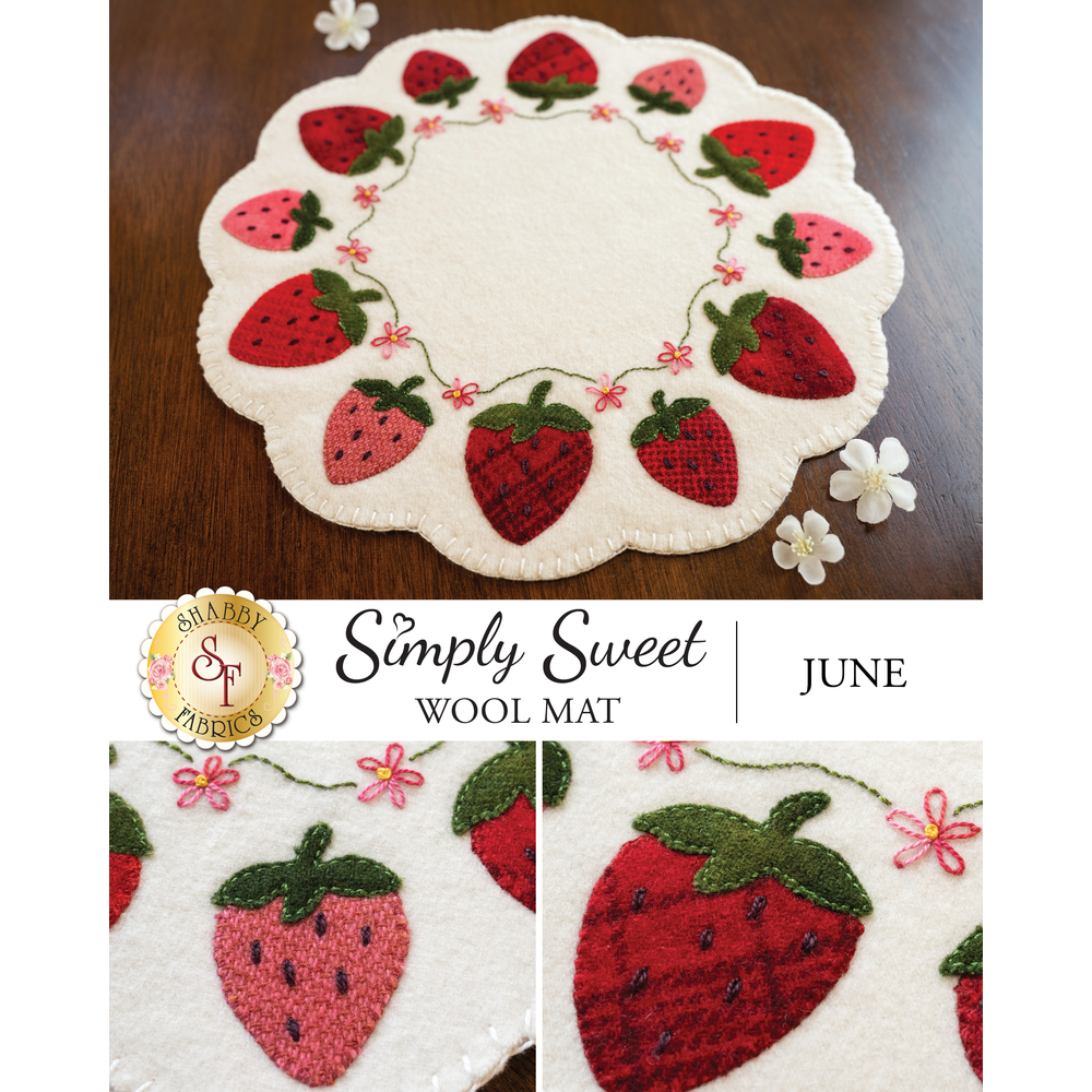 Simply Sweet Mats - June - Wool Kit