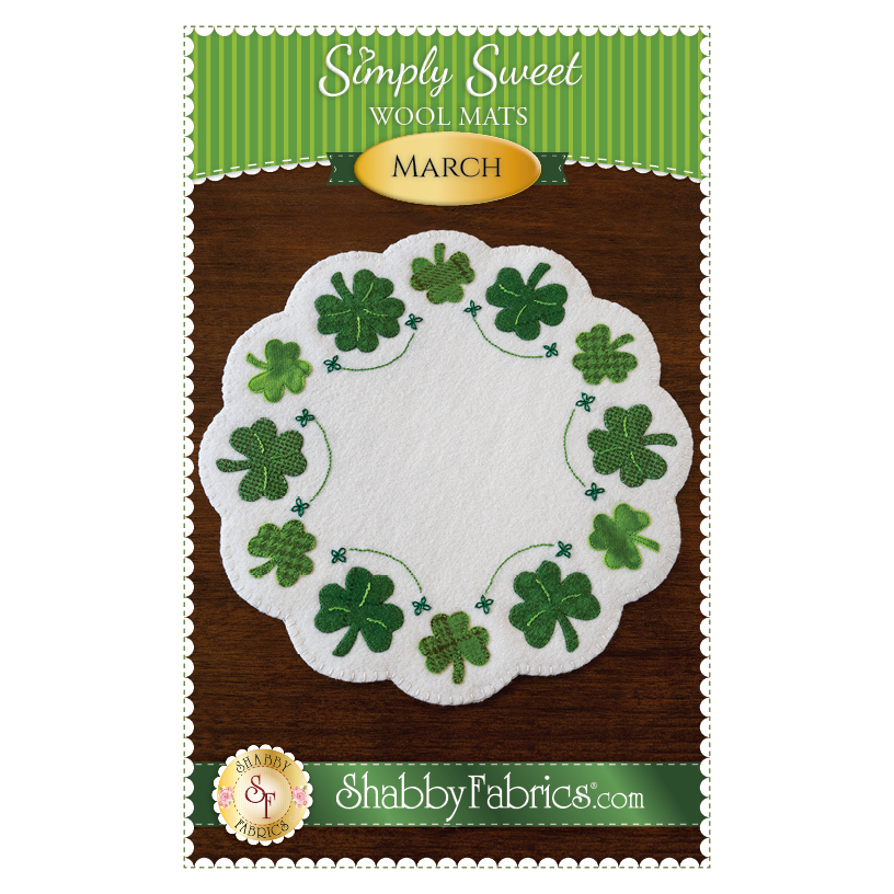 The front of the Simply Sweet Mats - March pattern | Shabby Fabrics