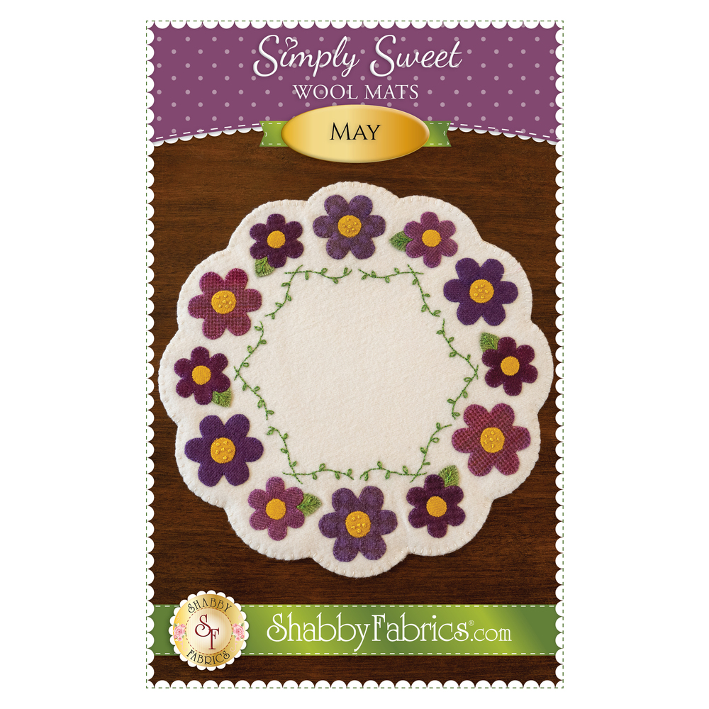 The front of the Simply Sweet Mats - May pattern | Shabby Fabrics