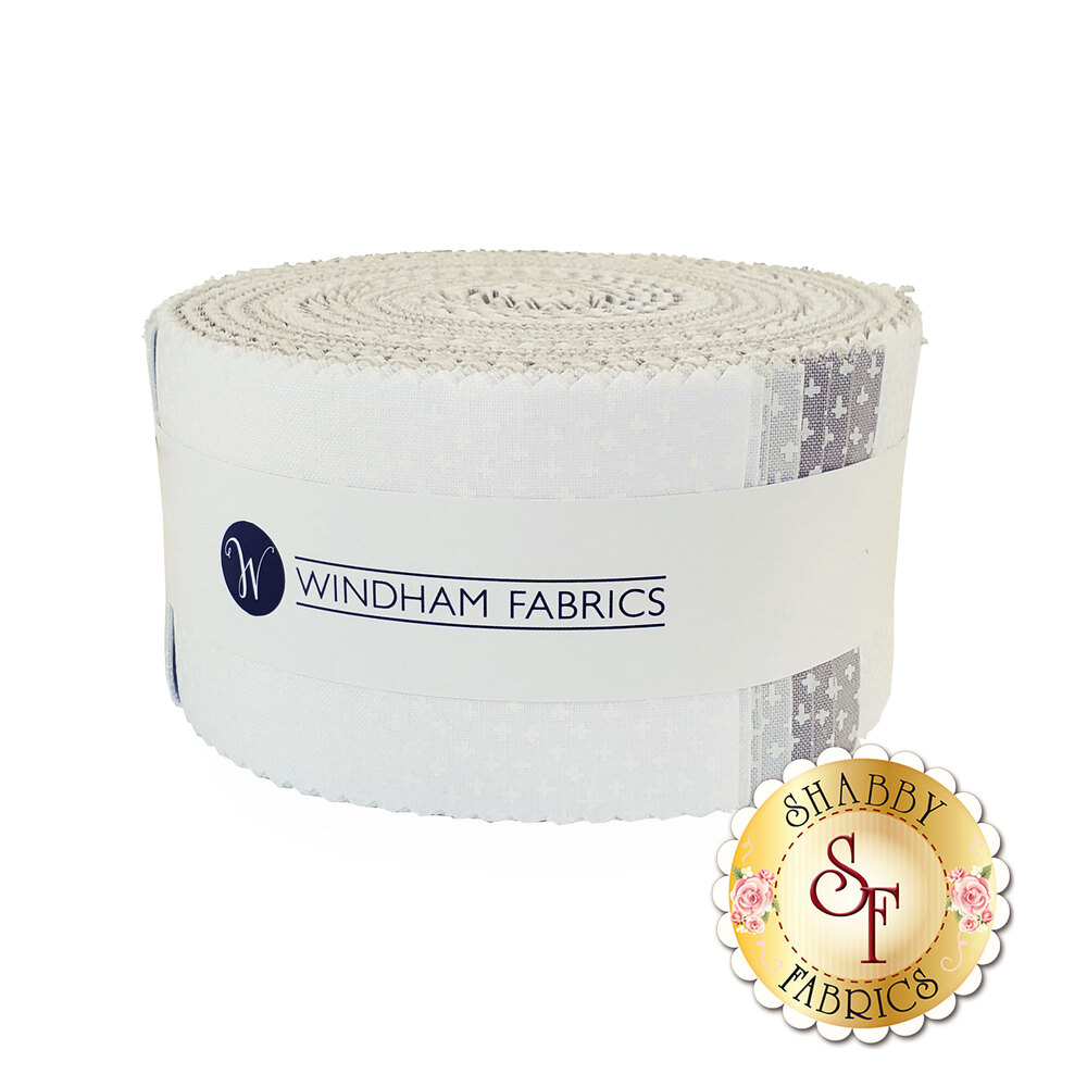 "Simply White  2 1/2"" Strip Roll by Windham Fabrics"