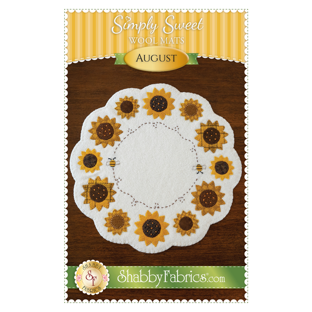The front of the Simple Sweet Mat - August pattern showing the completed August mat.