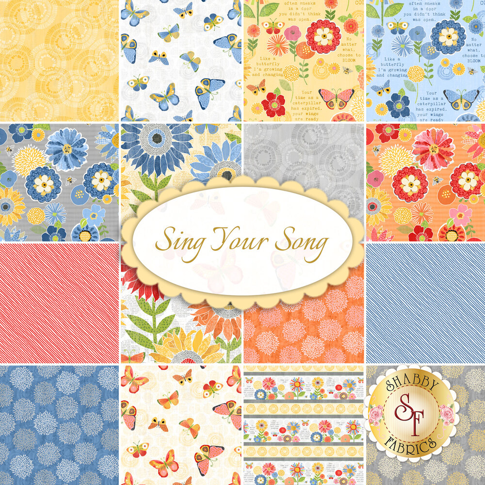 Sing Your Song  Yardage by Wilmington Prints