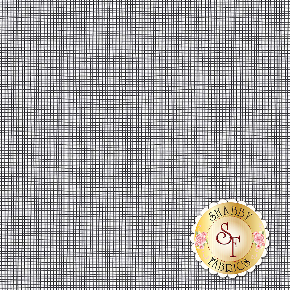White weave texture on gray | Shabby Fabrics