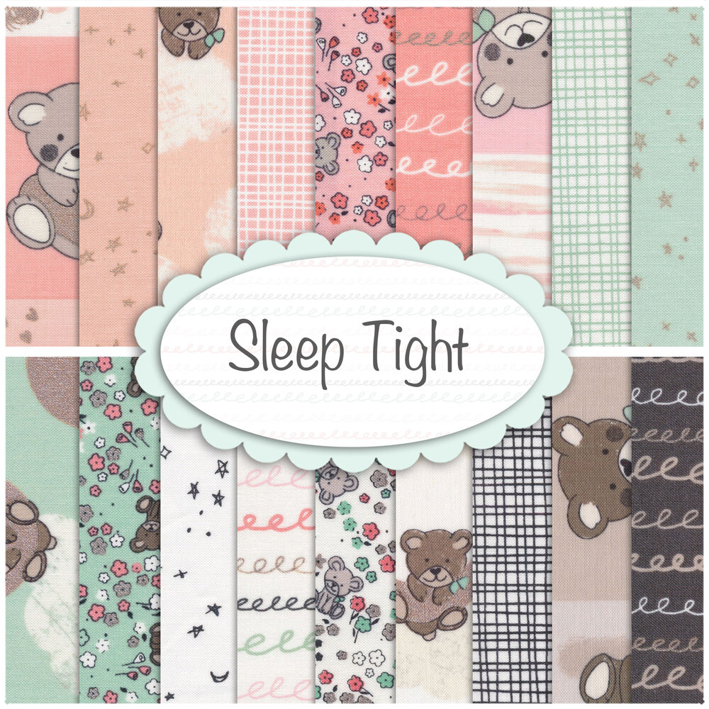 Collage of fabrics included in the Sleep Tight collection | Shabby Fabrics