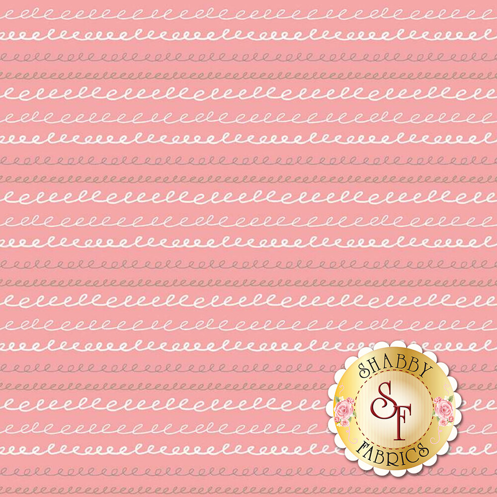 Multi colored stripes on coral   Shabby Fabrics