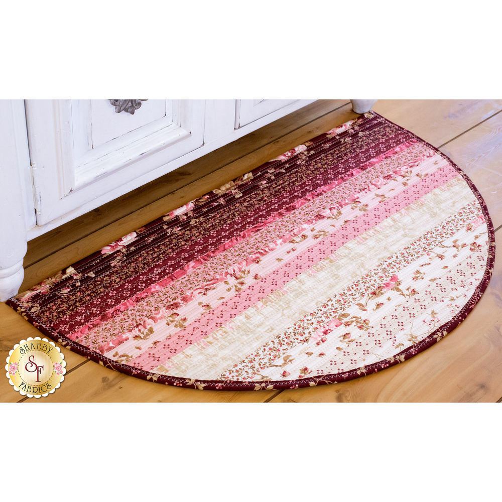 Slice Rug Kit - Burgundy & Blush