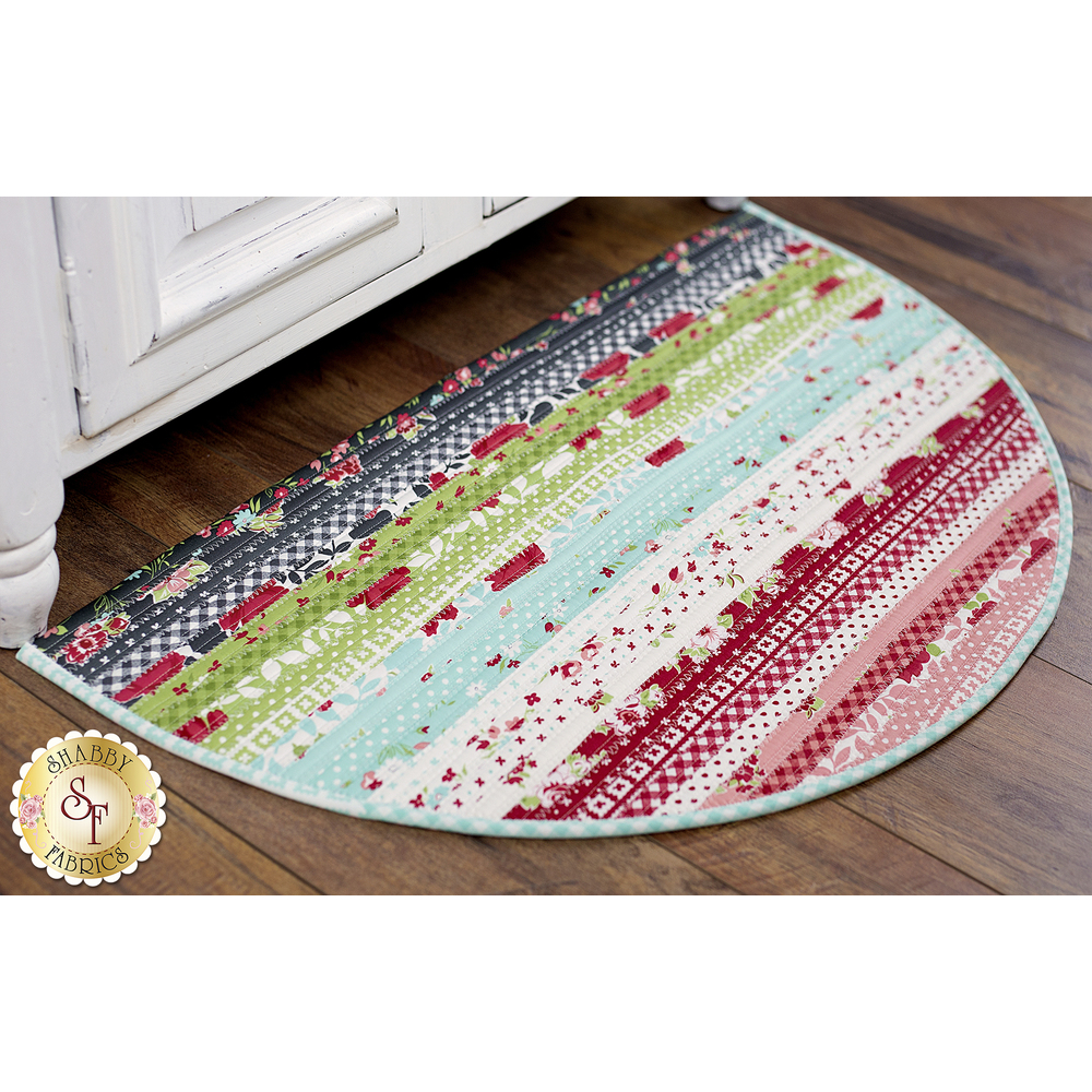 Little Snippets Slice Rug displayed | Shabby Fabrics
