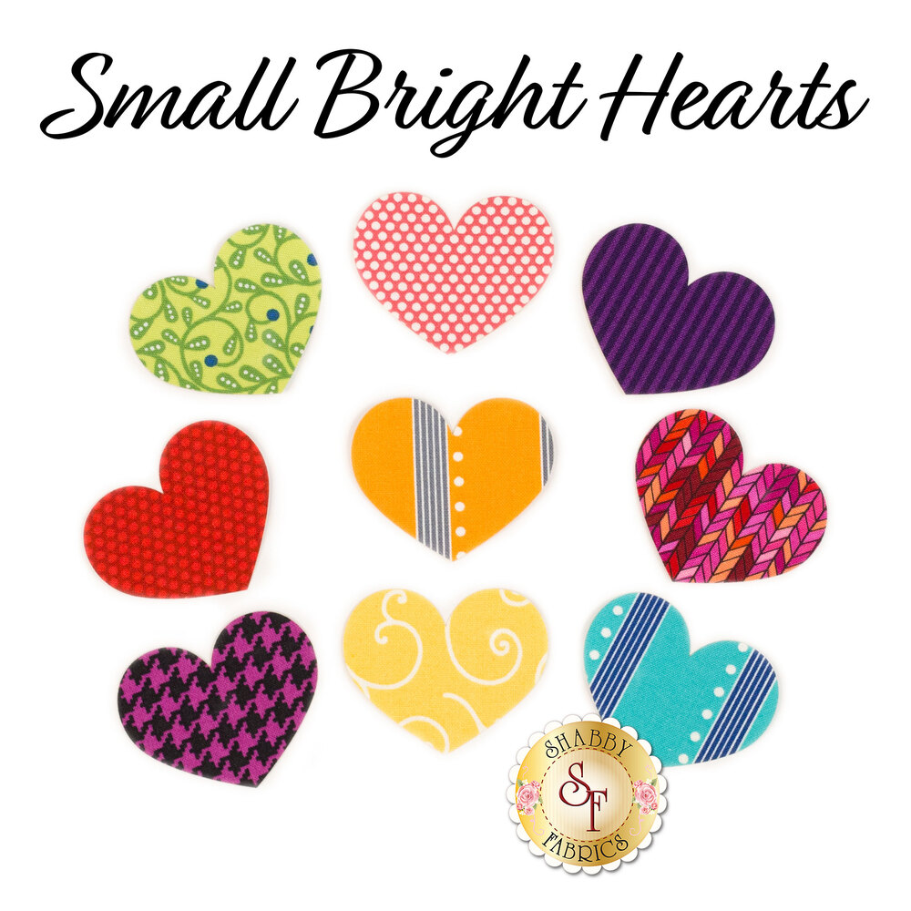 Laser-Cut Small Bright Hearts Set - Variety Pack