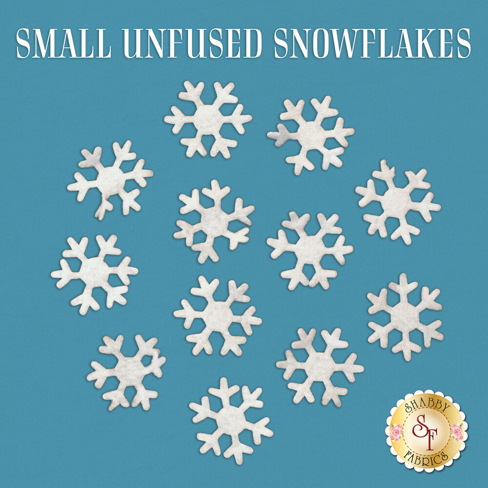 Small Unfused Felt Snowflake Pack - 12 Pieces - Die-cut
