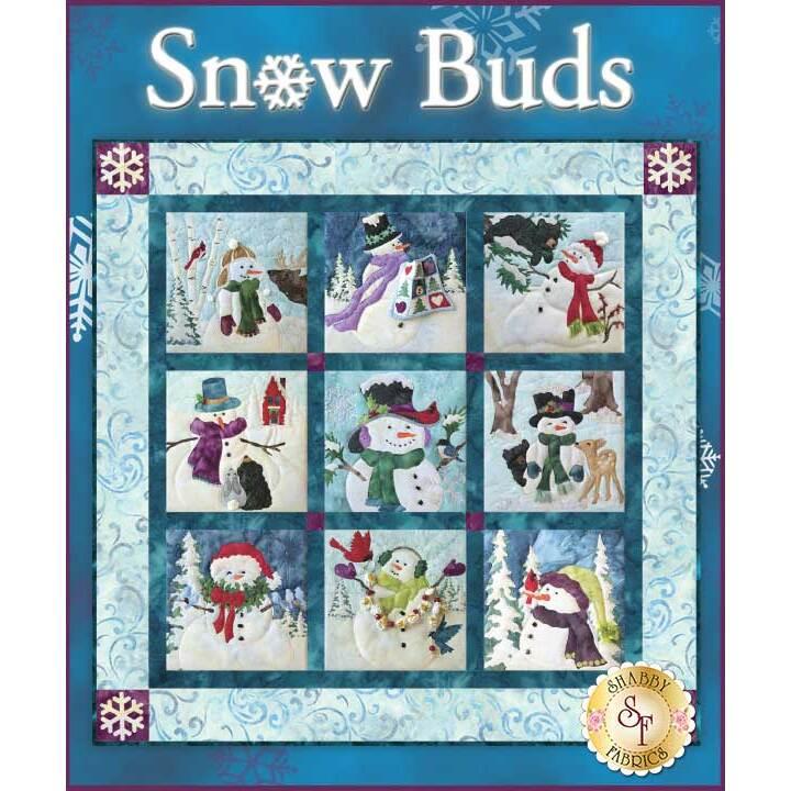 Snow Buds Quilt Kit - Pre-fused & Laser-Cut