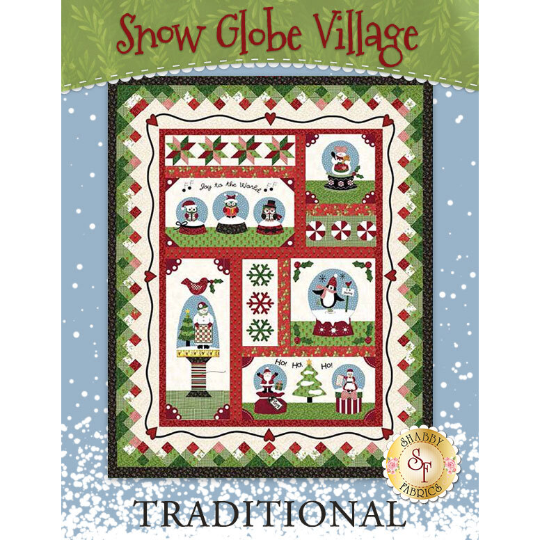 Snow Globe Village Quilt Kit - Traditional