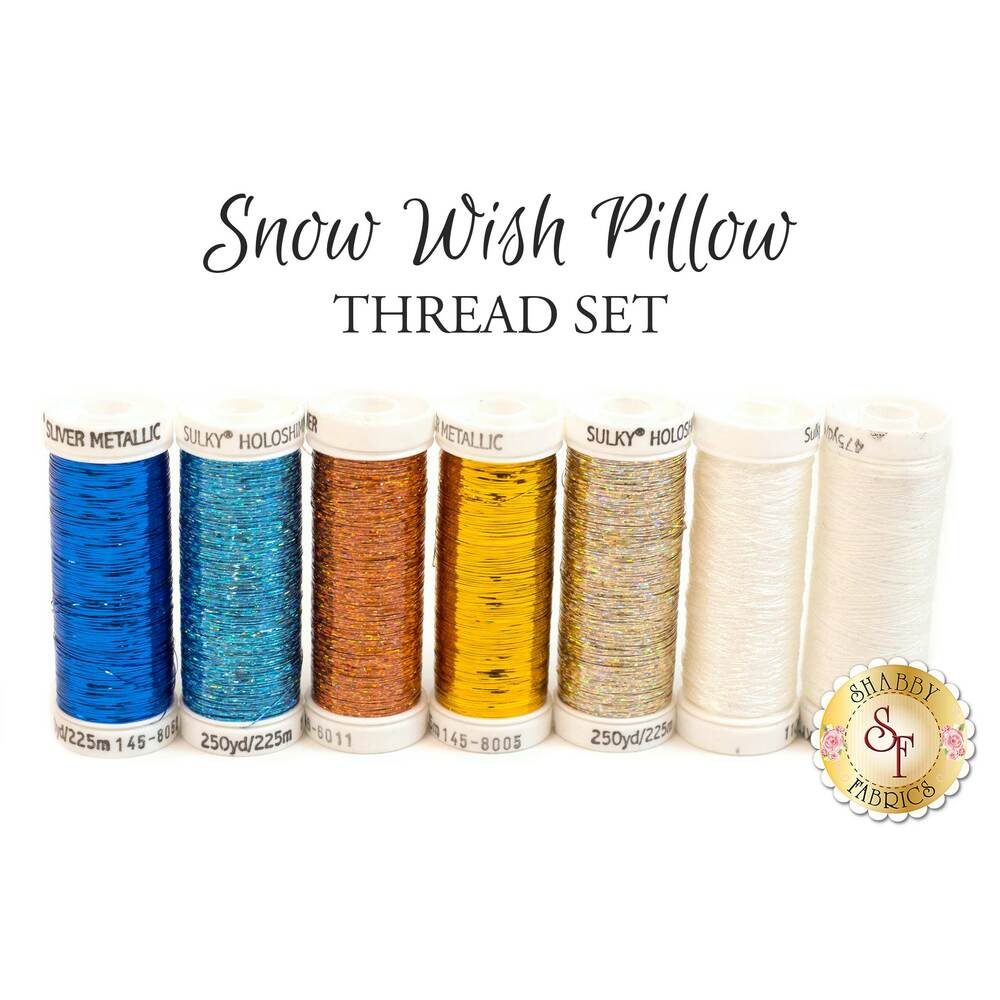 Snow Wish Metallic Thread Set - 7 pc