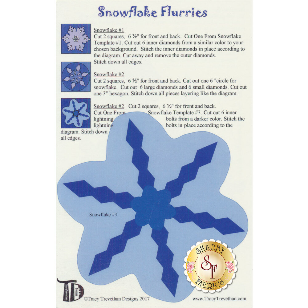 Snowflake Flurries Pattern by Tracy Trevethan