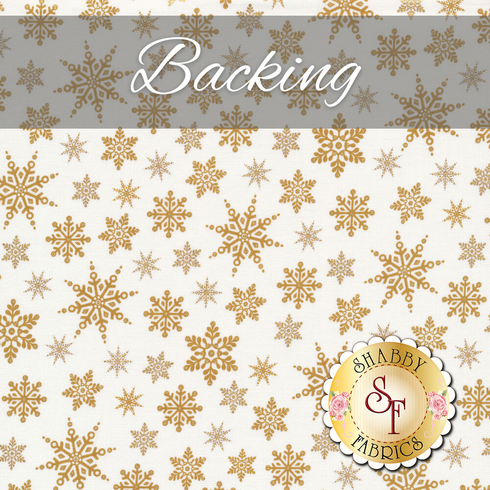 The coordinated backing for the Snowflake Quilt Kit - Holiday Village | Shabby Fabrics